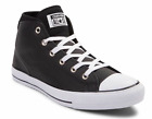 New Men Converse Chuck Taylor Syde Street Mid Leather Black White Shoes 157537C