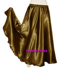 Gold TMS Satin Half Circle Skirt Belly Dance Maxi 4 5 Yard 30 Color Instock