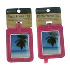 Set of 2 Protege Photo Frame Luggage Tags Suitcase ID Choose Color