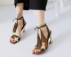 2017 Spring Autumn New Pattern Tassels Fashion Leather High Heeled Womens Shoes