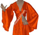 Orange TMS Satin Flair Wrap Top Tie Belly Dance Choli Gypsy Tribal 30 Color