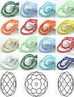 100 Pcs Rondelle Faceted Crystal Glass jewelry AB DIY Charm Spacer Beads 6 mm