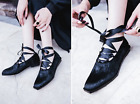 2017 Spring Autumn New Fashion Horsehair Flat Shoes Cross Strap Casual Shoes