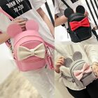 Fashion Women's Girls Cute Synthetic Leather Bow Small Travel Backpack B20E