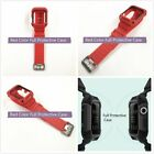 38mm or 42mm Red Rugged Protective Case with Strap Band For Apple Watch