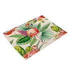 Tropical Bird Pattern Insulation Bowl Placemat Dining Pad Western Table Mats
