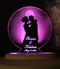 Personalized Wedding or Anniversary Cake Topper Moonlight Romance Opt LED Light