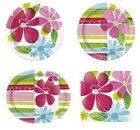 STRIPED SPRING FLOWERS Party Range (Tableware & Decorations) {Unique}