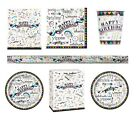 DOODLE PARTY Party Range (Tableware & Decorations) Art, Scribble, Craft {Unique}