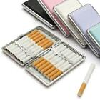 1pc Pocket Leather Metal Tobacco 14 Cigarette Smoke Holder Storage Case NEW - S
