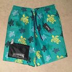 Vilebrequin Okoa Flocked Turtle Swim Shorts - Green Size M-XXXL RRP: £180.00