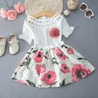Toddler Kids Baby Girls T-shirt Tops+Skirt Dress Summer Outfits Clothes 2PCS Set