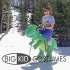 Kid Adult Inflatable T-Rex Dinosaur Halloween Dress Party Costume Dino Rider pop