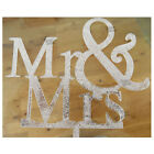 Wedding Mr & Mrs Cake Topper Gold Silver Glitter Party Sparkle Decoration