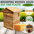 7pcs Auto Upgraded Honey Hive Beehive Frames Or Beekeeping Super Brood Box