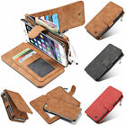 High Fashion Multi-card bit Removable Flip PU Leather Wallet Case Lot Phones