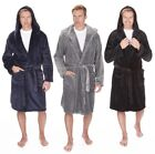 Pierre Roche Supersoft Fleece Hooded Dressing Gown Robe