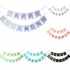Happy Birthday Flag Pennant Bunting Garland Partyware Party Banner Decorations