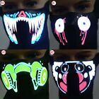 Men Cool LED Luminous Flashing Face Mask Party Masks Light Up Dance Halloween