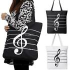 Korean Women Girl Single Shoulder Portable Musical Symbol Canvas Bag B20E