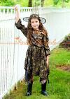 HALLOWEEN GIFT Witch with Dress & Hat Child Girl Party Costume Cosplay Set 2-8Y