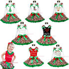 XMAS RWG WAVES PATTERN girl clothing shirt with pettiskirt skirt outfit set 1-8Y