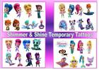 SHIMMER AND SHINE temporary TATTOOS  waterproof party bag stickers LAST1 WEEK+