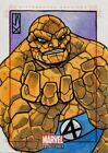 Marvel Bronze Age Sketch Card By John Jackman The Thing