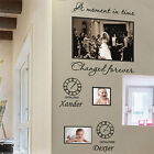 Personalized Family Children Photo Frames Art Wall Stickers Quotes Wall Decals