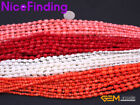 """3-6mm Graduated Coral Column Round Stone Beads For Jewelry Making Strand 15"""" DIY"""