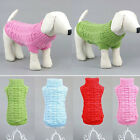 Pet Dog Warm Clothes Coat Apparel Jumper Sweater Puppy Cat Knitwear Costume TY