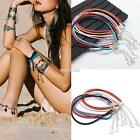 Women Fashion Braided Synthetic Leather Anklet Ankle Bracelet Beach Foot S0BZ