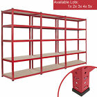 5 Tier Garage Shelving Racking Heavy Duty Steel Boltless Units Warehouse Racks