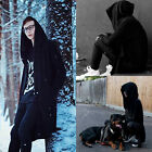 Fashion Men hooded jacket long cardigan black ninja goth gothic punk hoodie BKB