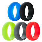 SZ 7-15 Silicone Rubber Ring Wedding Engagement Biker Army Cross Fit Flexible