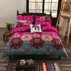 Full Queen King Size Duvet Cover Pillow Case Quilt Cover Bedding Set Bohemian