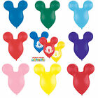 "5 x 15"" Mousehead/Ears Shaped Qualatex Latex Balloons (Mickey Mouse Clubhouse)"