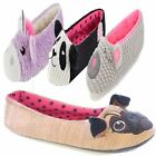Womens Girls Ladies animal novelty slippers Ballet lounge pump Ballerina soft