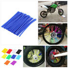 bicycle wheel spoke covers - Wheel Spoke Wraps Kit Rims Skins Covers Guard Protector Motocross Dirt Bike ID