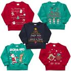 Boys Girls Xmas Jumper Tree Crimbo Robin Christmas Sweatshirt Top 2 to 6 Years