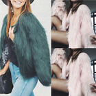 Luxury Fashion Winter Women Warm Paded Outwear Faux Fox Fur Jacket Coat  BKB