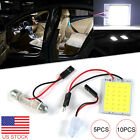 5/10X T10 24SMD COB Car LED Panel Lamps Interior Reading Bulbs Dome Festoon BA9S