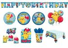 POKEMON Birthday Party Range (Tableware & Decorations) {Amscan} NEW
