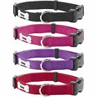 Adjustable Soft Strong Fabric Dog Puppy Pet Collar with Buckle and Clip for Lead