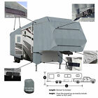 Deluxe 4-Layer 5th Wheel RV Motorhome Camper Cover Fits 35'- 36'L Zipper Access