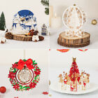Luxury 3D Pop Up Gold Red Snowflake Tree Merry Christmas Gift Greeting Cards