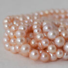 "15"" Strand Natural Freshwater Pearl Beads Round / Potato Peach Pink 5 - 9mm AA"