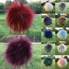 Cute Fluffy Faux Fur Ball Pom Cell Phone Car Pendant Handbag Key Chain Ring BKB