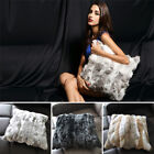 Throw Home Decorative Real Rabbit Fur Pillow Case Comfy Come Cushion Cover