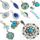 Factory direct  925 sterling silver blue pendant jewelry by jewelexi 5019B